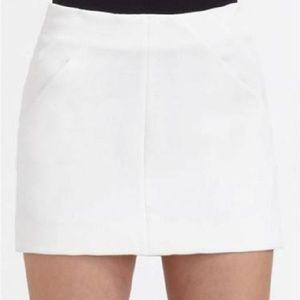 DVF white camisha mini skirt